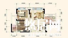 现代风格的爱情空间/1-2-1-1/55/总价:5万元