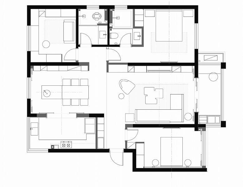 项目案例【维享家装饰】保利天汇130平现代简约风