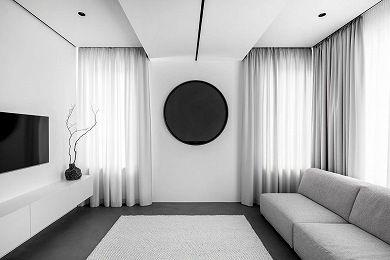 【维享家装饰】天骄溪悦120极简黑白灰/三居室/120/总价:14万元